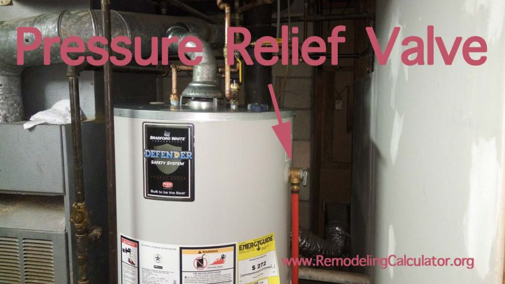 how to repair / replace broken pressure relief valve on a water