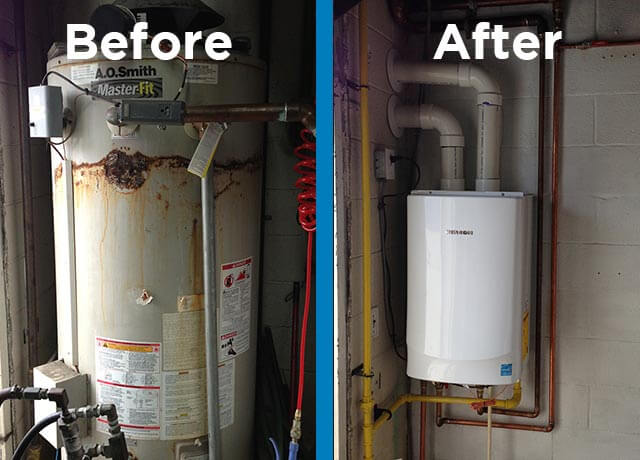 switching to a tankless water heater